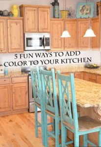 5 Fun ways to add color to your kitchen.