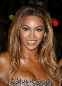 Delicate Medium Blonde Female Beyonce Knowles Wavy Celebrity ...