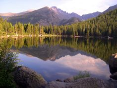 Bear Lake - Rocky Mountain National Park. I was just there and it is even more beautiful when you are there.