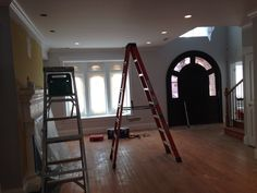 Living room is being painted