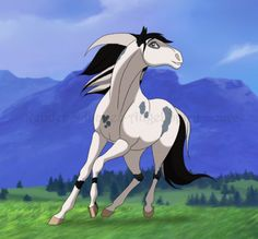 Name: dream catcher age: 18 about: loves running around the plains and grazing she is a true free spirit mate is Apache Spirit The Horse, Spirit And Rain, Spirit Drawing, Horse Animation, Horse Movies, Horse Cartoon, Horse Drawings, Animal Sketches, Horse Pictures