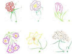 Flower & Heart Outline Digital Clip Art by SnugglebugArtDesign