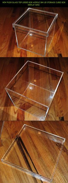 NEW PLEXI GLASS Top Lidded Box Acrylic Bin Lid Storage Cubes Box Display 12x12  #gadgets #racing #camera #storage #technology #kit #shopping #drone #12x12 #tech #fpv #products #parts #plans