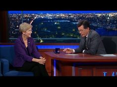 WATCH: Elizabeth Warren Tries to Convince Colbert She's Not Running for President   Alternet