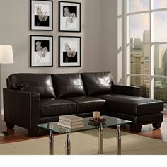 Dillon Leather Sectional  our new sectional!!