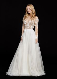 Hayley Paige Remington gown.  style 6553 JLM couture