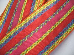 VINTAGE EMBROIDERED RIBBON  by Toide on Etsy