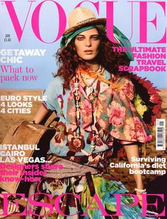 Daria Werbowy, Vogue UK January 2005 by Mario Testino Vogue Magazine Covers, Fashion Magazine Cover, Fashion Cover, Vogue Covers, Fashion Photo, Daria Werbowy, Mario Testino, Vogue Uk, Uk Magazines