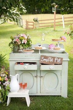 #buffet #dessert #mariage #fleurs
