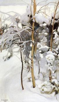 An Orchard in Winter  Pekka Halonen - 1904