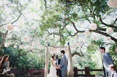 rustic wedding in the woods