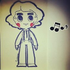 harry styles of one direction! :D  sutefeni.com #art #illustration #cute #harrystyles #onedirection