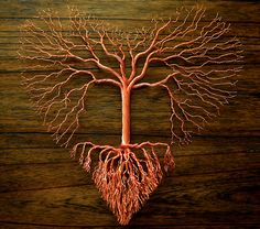 "1st Place - 3D Art Category - Marsha Drew - ""Tree of Love Copper Wire Wall Sculpture"" - www.twistedgypsyart.com"