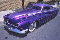 Frank DeRosa 's King of Mercs, a purple '51 Mercury!