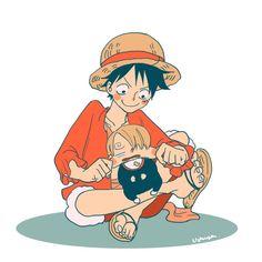 Sanji to luffy One Piece Anime, One Piece Fanart, One Piece Luffy, Anime One, Manga Anime, One Piece World, One Piece Pictures, 0ne Piece, Monkey D Luffy