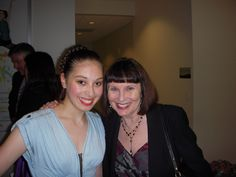 Miranda with Patricia McBride after performing at NCDT, 2013