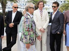 Bill Murray couldn't decide which plaid to wear .in Cannes