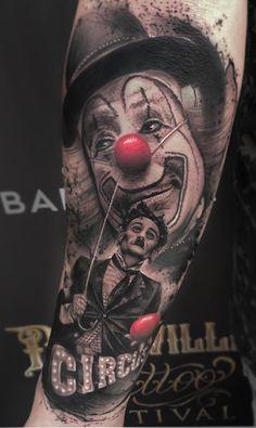 80 Tatuagens de Palhaço incríveis para você se inspirar - Fotos e Tatuagens Clown Tattoo, Creepy Tattoos, Movie Tattoos, Forarm Tattoos, Body Art Tattoos, Tatoos, Gangsta Tattoos, Flame Tattoos, Money Tattoo