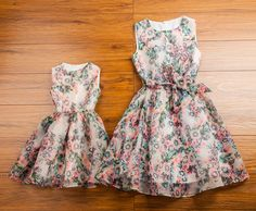 (Buy here: http://appdeal.ru/2sul ) 2016 Matching Mother Daughter Clothes Family Look Matching Mom and Daughter Dress Parent-child Outfit Ma e Filha Maxi Dress for just US $28.90