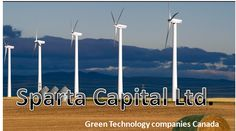 Sparta Capital Ltd is a publicly traded company located in Calgary, Alberta, Canada. It provides green technology companies in Canada as well as contribute to a more sustainable world.  For more visit www.spartacapital.com