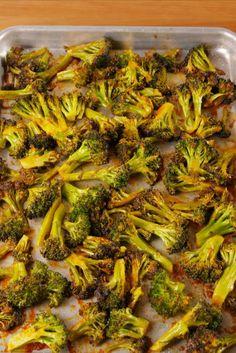 Roasted broccoli with a delish kick!