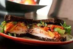 arugula + avocado + turkey sandwich