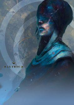 Qeen of Liquid, Michał Danielewicz on ArtStation at https://www.artstation.com/artwork/qBRwy