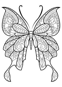 This adult coloring book with beautiful butterfly pictures to color is very easy to use. Multiple color palettes and a personal gallery of your own works, along with calming, relaxing background music, make this anti stress coloring book for adults as user friendly as it can get! Coloring books for grown ups like this one are a path to mindfulness. Engage yourself in hours of peaceful color therapy with gorgeous butterfly coloring pages for adults, including mandala coloring book desig...