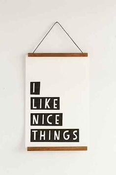 "UrbanOutfitters.com: ""Wooden dowel poster hangers. 19.00"