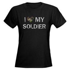 Soldier: Love - Vintage Women's Dark T-Shirt