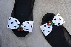 Olivia Paige  Polka dot cherries  Clips pin by OliviaPaigeClothing, $10.00