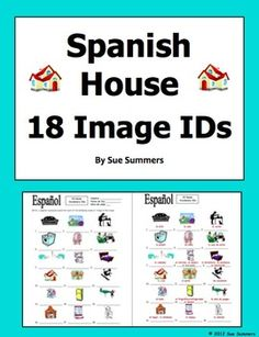 Spanish House 18 Vocabulary IDs - La Casa by Sue Summers