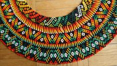Sacred Handmade Indigenous Rainbow 🌈 beaded necklace from Colombia by Embera Chami Tribe living close to Pereira town. Beaded Collar, Bead Loom Patterns, Native American Beading, Loom Beading, Beaded Earrings, Seed Beads, Collars, Art Pieces, Tapestry