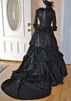 Mina Gothic Dracula Victorian Steampunk Gown by RomanticThreads