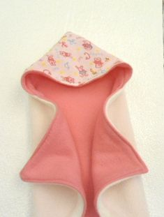 Reversible Hooded Baby Blanket, a  beginner sewing project with delightful results!  ~ Free  Pattern