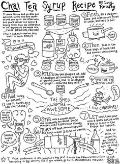 Chai tea syrup - I'm going to print this out and colour it.