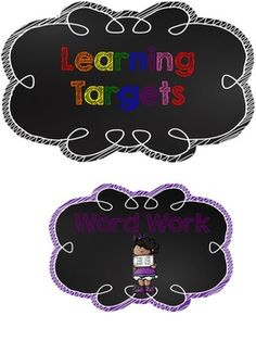Signs for Learning Targets FREEBIE