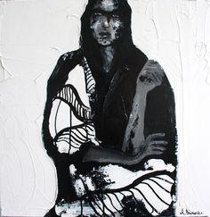 "Saatchi Online Artist aga baranska; Painting, ""Aiko."" #art"