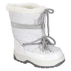 Young Versace Girls White Chain Print Snow Boots at Childrensalon ...