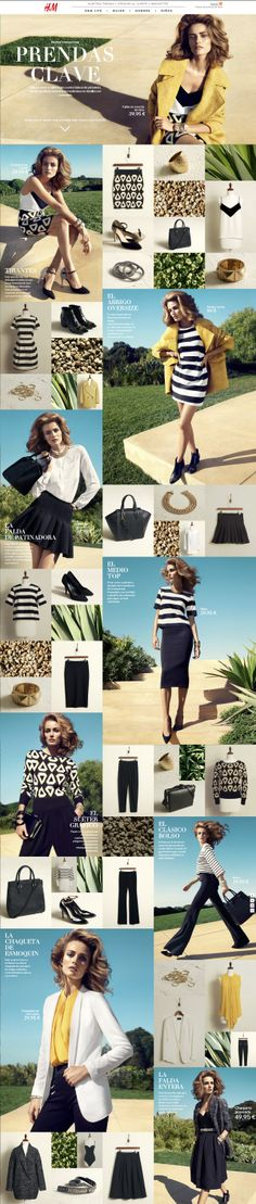 This layout is from the H&M online shop, its not a Newsletter but could be good inspiration for one!