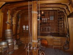 Interior of a pirate ship
