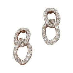 79cdb66b808633 Elegant 9ct Rose Gold Diamond Earrings boasting a delicate and  sophisticated design, suitable to match