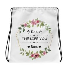 Live Love Kordelzugtasche – Feminisi Live Love, Drawstring Backpack, Backpacks, Bags, Sporty Style, Nice Asses, Purses, Totes, Backpack