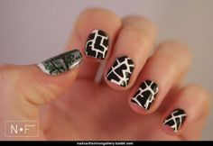 #nailart #cute #blackandhwhite #loveit