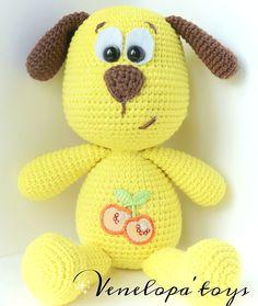 crochet doggie Sun