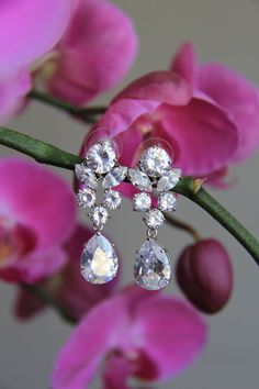 Sparkle filled bridal earrings wedding earrings by terihuang