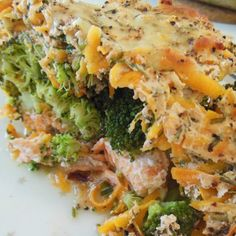 Laks i ovn, med broccoli og skyrcreme