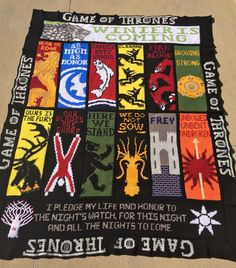Crochet Patterns Game Of Thrones : etsy game of thrones crochet blanket graphghan game of thrones crochet ...