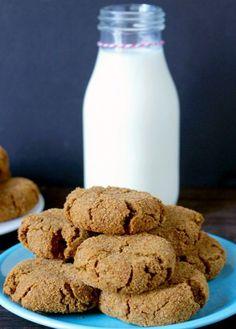 Paleo Gingersnaps - coconut oil, coconut sugar, molasses, egg, almond flour, coconut flour, ground ginger, salt, baking soda (makes ~23)