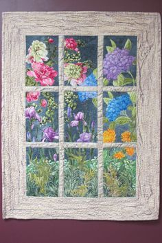 Ideas Wall Hanging Flower Quilt Patterns For 2019 Colchas Quilting, Quilting Projects, Quilting Designs, Small Quilts, Easy Quilts, Mini Quilts, Attic Window Quilts, Flower Quilts, Landscape Quilts